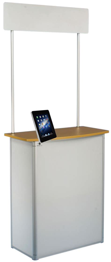 Promotional Counter with iPad Mount | Portable with Header