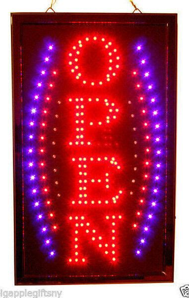 NEW BRIGHT VERTICAL Animated Business LED OPEN Sign w