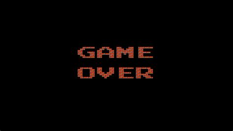 digital Art, GAME OVER, Minimalism, Text, Video Games