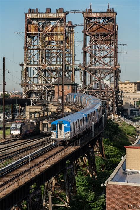 The Dock Flyovers | A westbound PATH train bound for